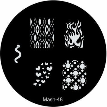 MASH Nail Art Stamp Stamping Image Plate No 48