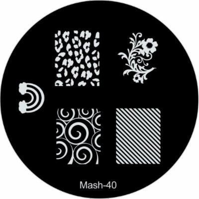 MASH Nail Art Stamp Stamping Image Plate No 40