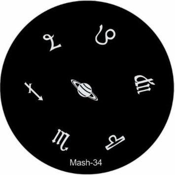MASH Nail Art Stamp Stamping Image Plate No 34
