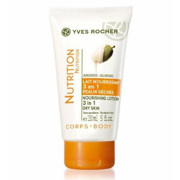 Nutrition Almond Nourishing Body Lotion 3 in 1 Dry Skin by Yves Rocher (5 fl.oz. Tube / 150ml)