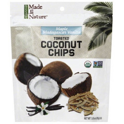 Made in Nature Maple Madagascar Vanilla Toasted Coconut Chips, 3 oz, (Pack of 6)