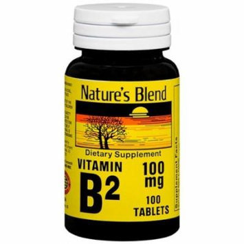 Nature's Blend Vitamin B-2 100 mg, Tablet, 100 ct. (2 PACK)