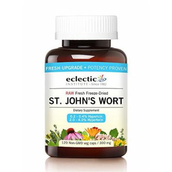 St. John's Wort 300mg Freeze Dried Eclectic Institute 120 Caps