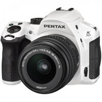 Pentax K30 Digital Camera with 18-55mm AL Lens Kit (White)