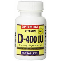 Optimum Vitamin D-400IU Capsules, 100 Count (Pack of 3)