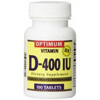 Optimum Vitamin D-400IU Capsules, 100 Count (Pack of 3)