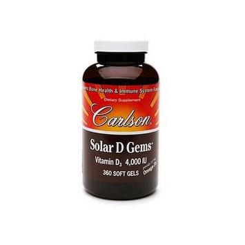 Carlson Solar D Gems, 4000 IU, softgels 360 ea