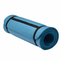 Sivan Health And Fitness Yoga and Pilates Mat with Straps, Blue, 1 ea