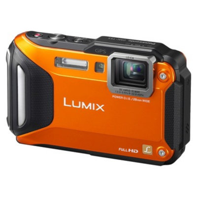 Panasonic Lumix TS5 Orange 16.1 Megapixel Digital Camera