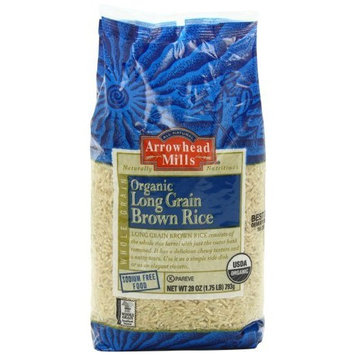 Arrowhead Mills Organic Long Grain Brown Rice, 28 Ounce Packages (Pack of 6)