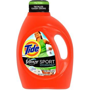 Tide Liquid Detergent Plus Febreze Freshness Sport Active Fresh Scent