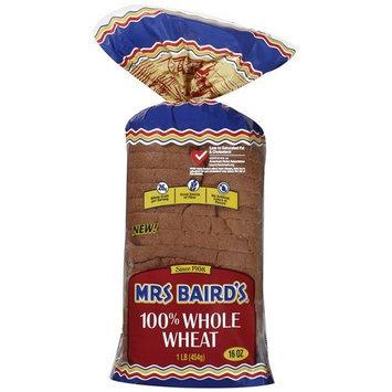Mrs. Baird's 100% Whole Wheat Bread, 16 oz