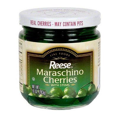 Reese Green Maraschino Cherries With Stems