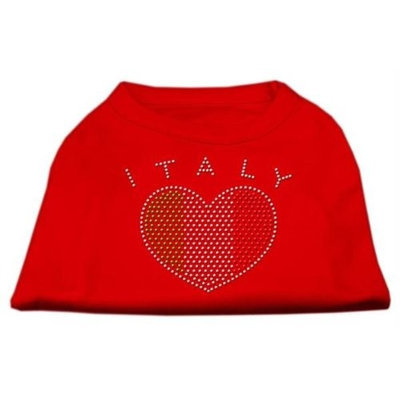 Mirage Pet Products 5241 XXLRD Italy Rhinestone Shirts Red XXL 18
