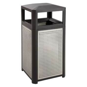 Safco 38 Gallon Evos Series Steel Waste Receptacle