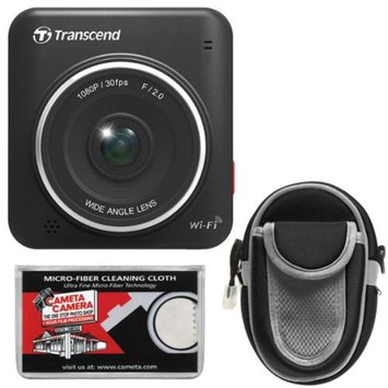 Transcend DrivePro 200 1080p Full HD Car Dashboard Video Recorder with Case + Cloth