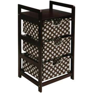 Storage Chest: Badger Basket 3-Drawer Hamper/Storage Unit - Dark