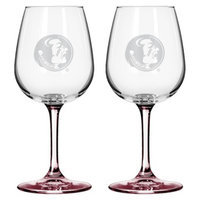 NCAA Florida State Seminoles Boelter Brands 2 Pack Satin Etch Wine Glass -