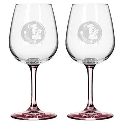 NCAA Florida State Seminoles Boelter Brands 2 Pack Satin Etch Wine Glass -