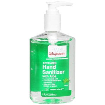 Walgreens Advanced Hand Sanitizer Gel, Aloe, 8 fl oz