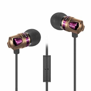 ID America IDH101-BLK Spark In-Ear Headphones, Gold, 1 ea