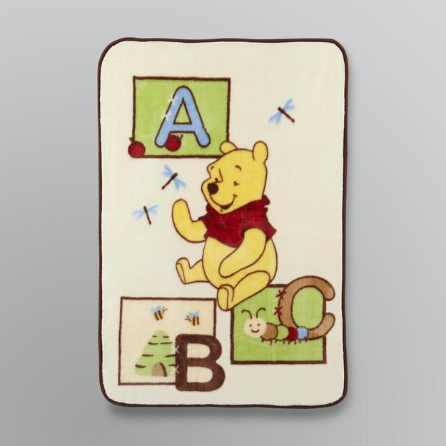 Disney Baby Pooh's Plush ABC Blanket