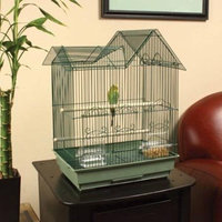 Petco Designer Green Ranch Style Top Parakeet Cage