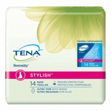 Tena Serenity Stylish Pads Ultra Thin with Wings, 14 ea