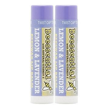 Beecology Beessential Lemon Lavender All-natural Beeswax Lip Balm [Lemon Lavender Balm]