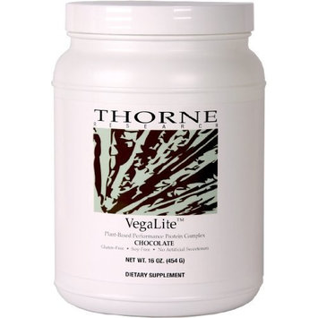 Thorne Research VegaLite Plant-Based Protein, Chocolate 16 oz. (FFP)