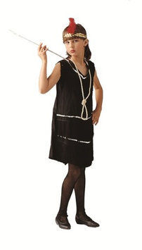 RG Costumes 91033-R-M Deluxe Red Flapper Costume - Size Child-Medium