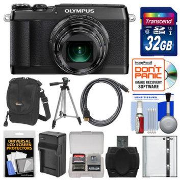 Olympus Stylus SH-1 Wi-Fi Digital Camera with 32GB Card + Case + Battery/Charger + Tripod + Kit