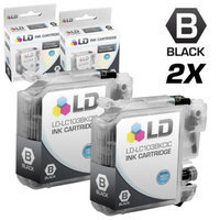 LD Brother Compatible LC103 Set of 2 Ink Cartridges: 2 Each of LC103BK Black for the MFC J245, J285DW, J450DW, J470DW, J475DW, J650DW, J6520DW, J6720DW, J6920DW, J870DW, J875DW and DCP-J152W