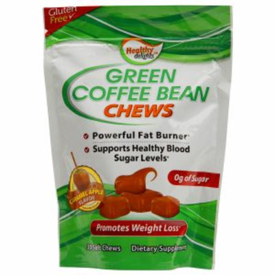 Hns Healthy Delights(tm) Green Coffee Bean Chews - Caramel Apple