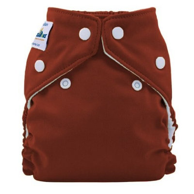 FuzziBunz Perfect Size Cloth Diaper, Choco Truffle, X-Small 4-12 lbs