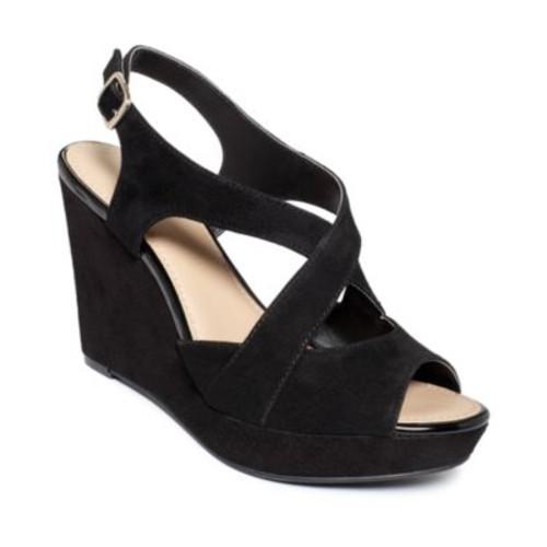 black sandals Alfani Pinae Platform Wedge Sandals