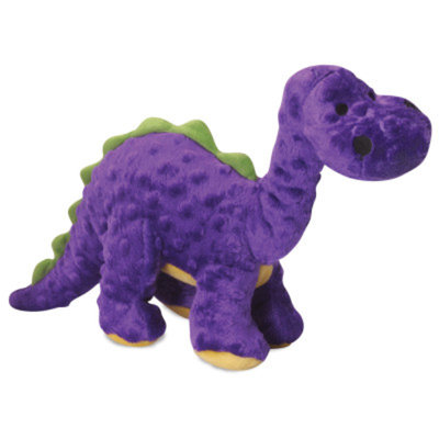 goDog Bruto the Brontosaurus Dino Squeaker Dog Toy