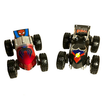 Playmakers Group Regenerators Thor and Spider-Man 1/24 Scale Car Set