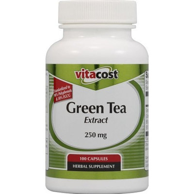Vitacost Brand Vitacost Green Tea Extract - Standardized -- 250 mg - 100 Capsules