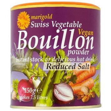 Marigold Swiss Vegetable Vegan Bouillon Powder, Reduced Salt, 5.3-Ounce Units (Pack of 6)