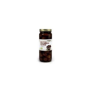 Sunfood Kalamata Olives, PITTED (raw, sustainably-grown), 10-Ounce Jar