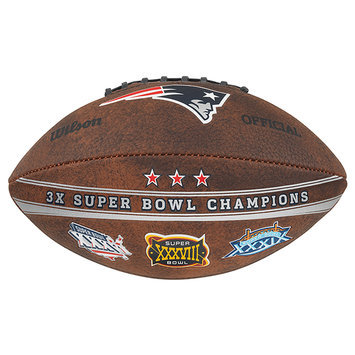 Gulf Coast Sales Wilson New England Patriots Commemorative Championship 9-Inch Leather Football