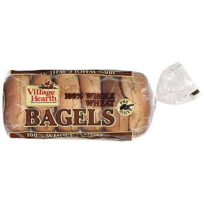 Village Hearth 100% Whole Wheat Bagels, 24 oz