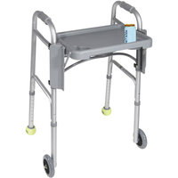 Drive Medical 10125  Deluxe Folding Walker Tray Gray