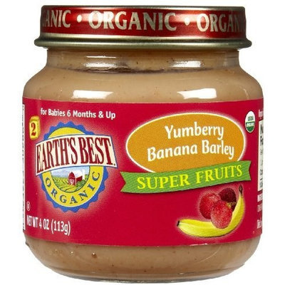 Earth's Best Earths Best Organic Yumberry Banana Barley Super Fruits for Second Stage, 4 Ounce -- 12 per case.