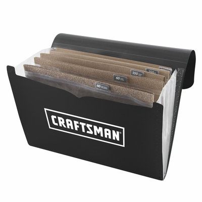 Craftsman 9 x 11 in. Sandpaper 50-pk with Portfolio