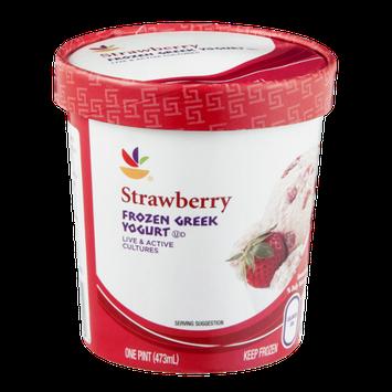 Ahold Frozen Greek Yogurt Strawberry
