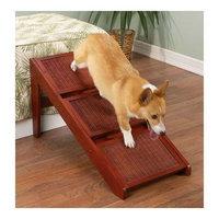 Pet Studio Wood Wicker Cherry RampSteps, 3 Steps