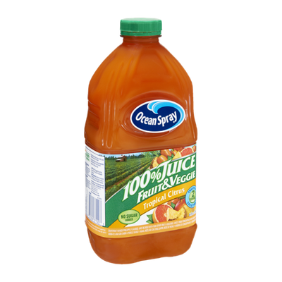 Ocean Spray Tropical Citrus No Sugar Added Fruit & Veggie 100% Juice