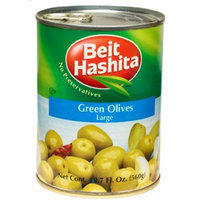 Beit Hashita Green Olives Large, 19.7-Ounce (Pack of 6)